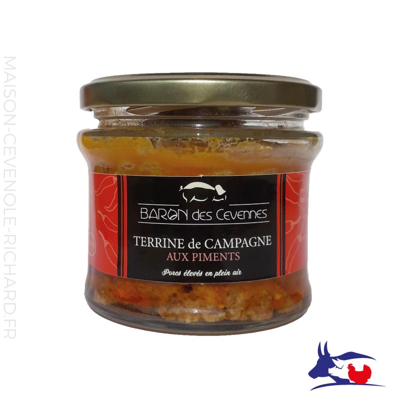 Terrine de Campagne aux piments - Baron des Cévennes